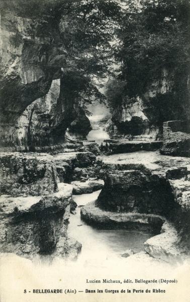 A Bellegarde dans les Gorges de la Perte du Rhone © Coll Rondeau BMLyon Promofluvia