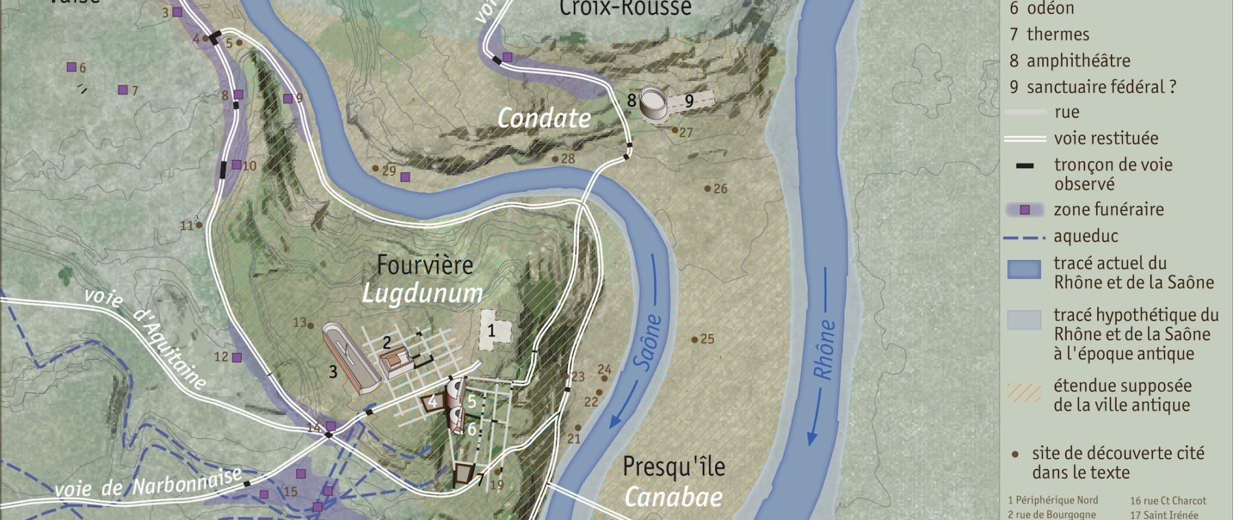 Baudrand 2012 plan Lugdunum © Service Archéologique Ville de Lyon