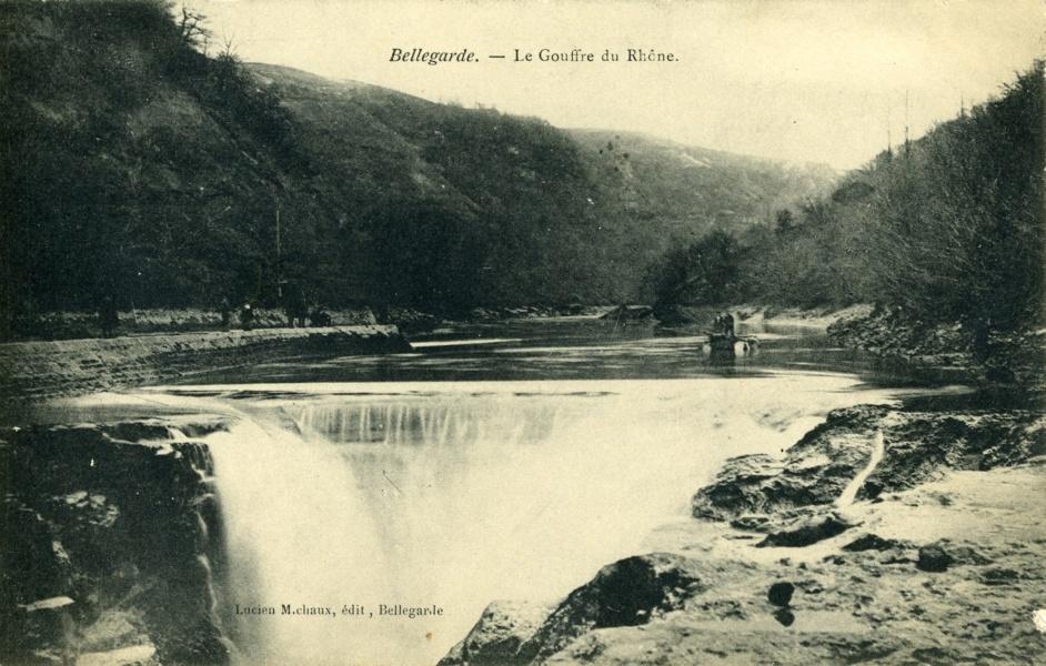 Bellegarde Le Gouffre du Rhône © Coll Rondeau, Promofluvia - BM Lyon