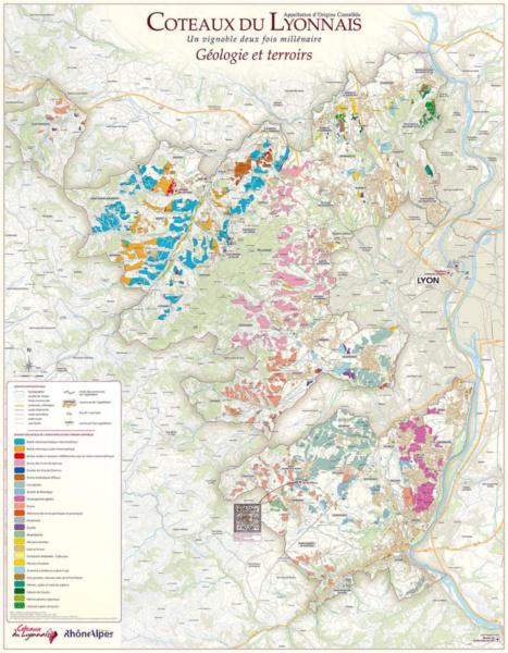 Carte geologique © Coteaux du Lyonnais