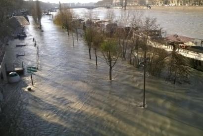 Crue quai Rhône Lyon 2018 © Capsurlerhône