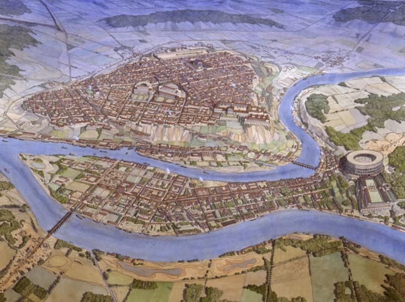 Données PCR Atlas topographique de Lyon antique © JC Golvin, DRAC SRA Rhône-Alpes, mai 2010