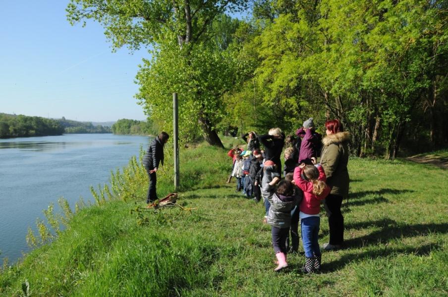 Éducation au fleuve Rhône © SMIRIL