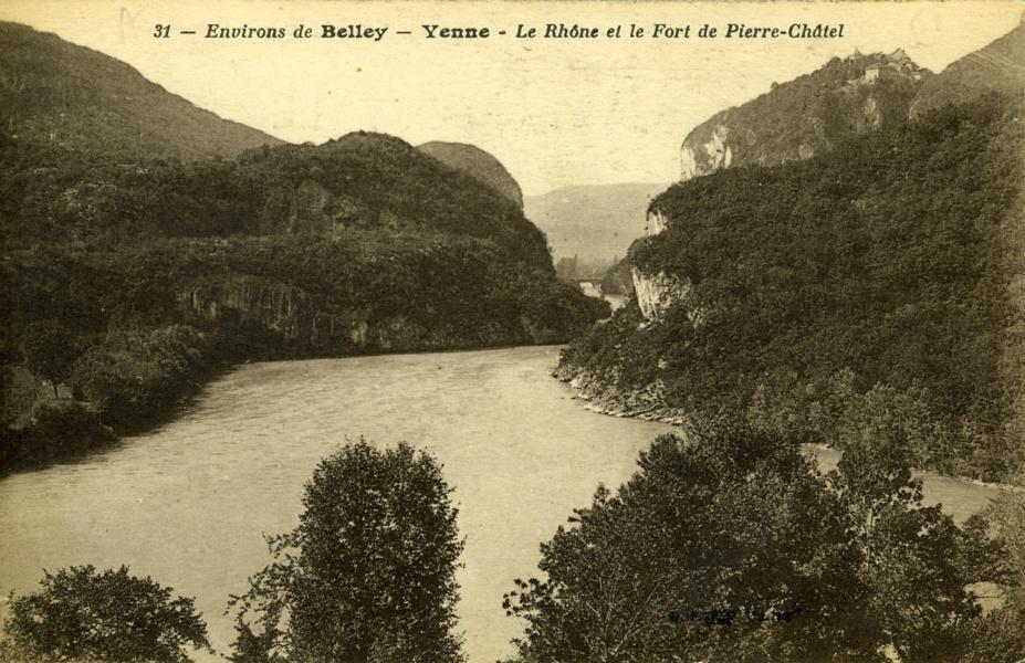 Environs de Belley, Yenne, le Rhône et le Fort de Pierre-Châtel © Coll Rondeau, Promofluvia-BM Lyon