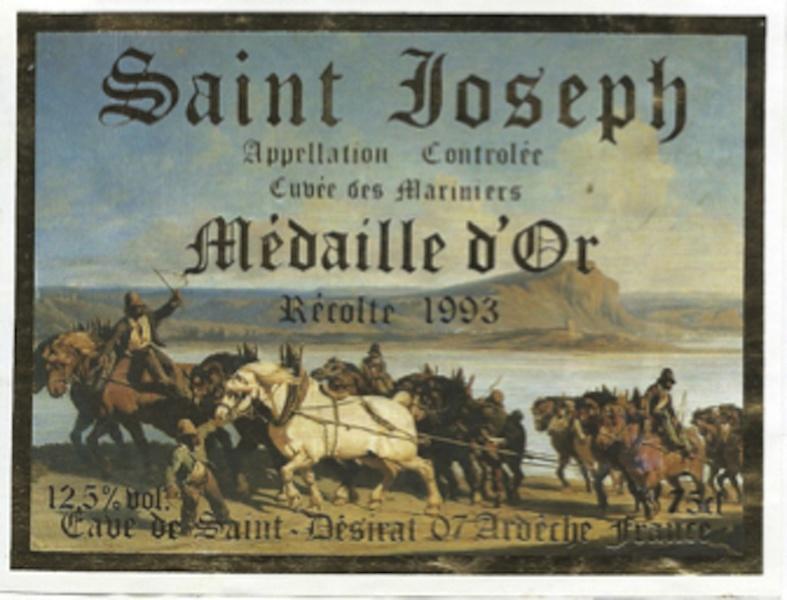 Étiquette de St Joseph St Désirat © JP Bravard