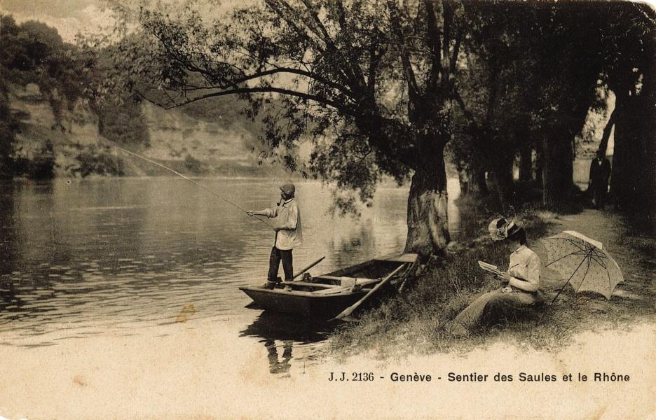 Genève loisir bord de Rhône © Coll Rondeau, Promofluvia - BM Lyon
