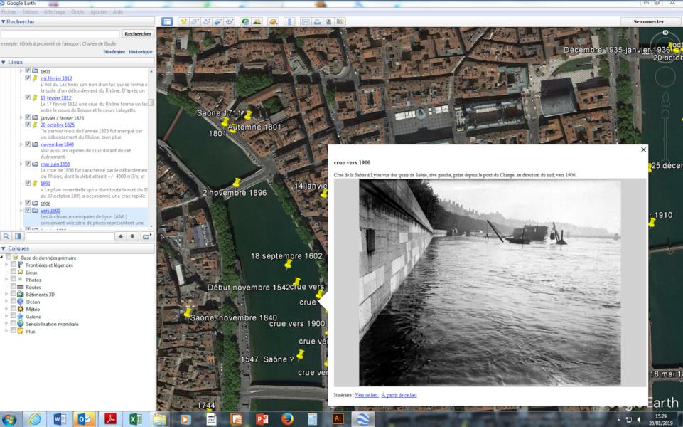 Géo Clim Inondation photo Saône © Service Archéologique Ville de Lyon