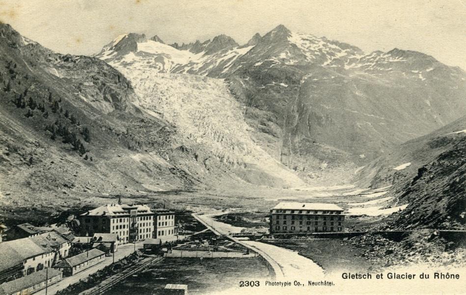 Glacier du Rhône © Coll Dürenmatt, Promofluvia- BM Lyon