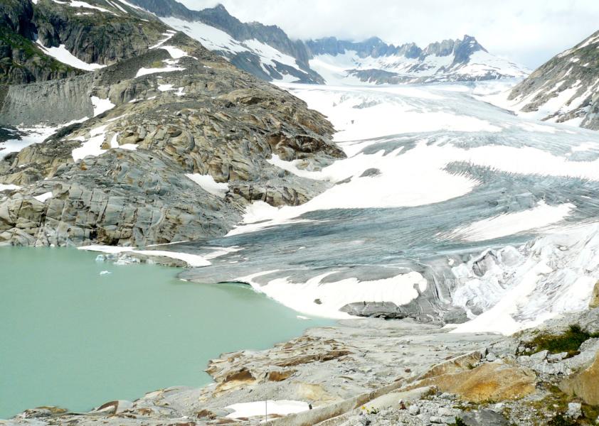 Glacier du Rhône © P Gras
