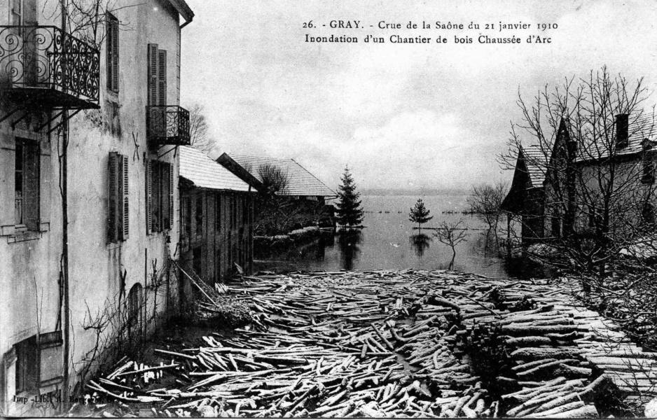 Gray inondé janvier 1910 © LBonnamour
