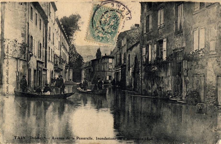 Inondation à Tain en 1896 © Coll Dürenmatt, Promofluvia - BM Lyon