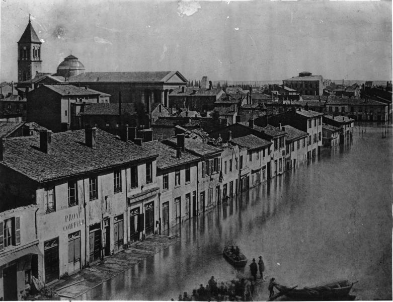 Inondations de Lyon en 1856 © BM Lyon