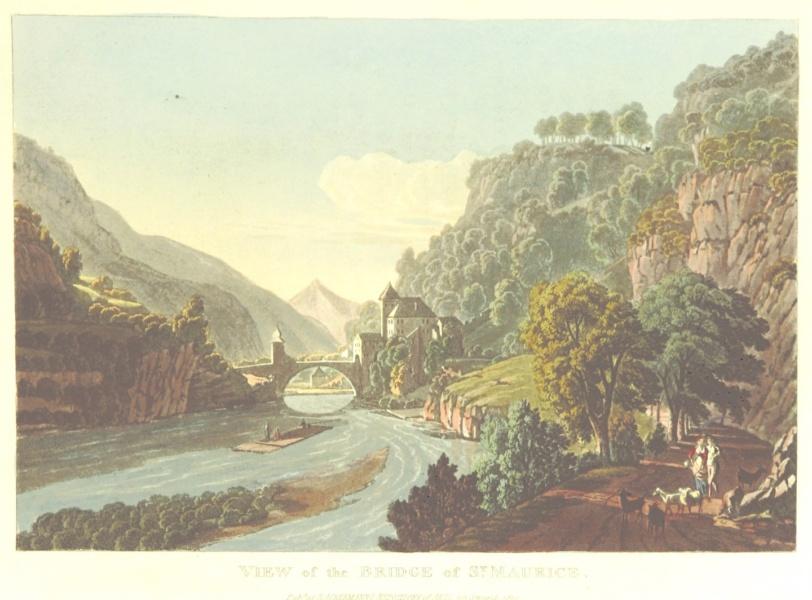 L ancien pont de Saint Maurice et l