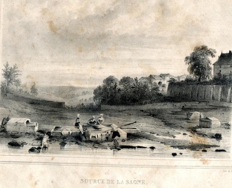 La source de la Saône à Vioménil 1835 © Lauters LBonnamour