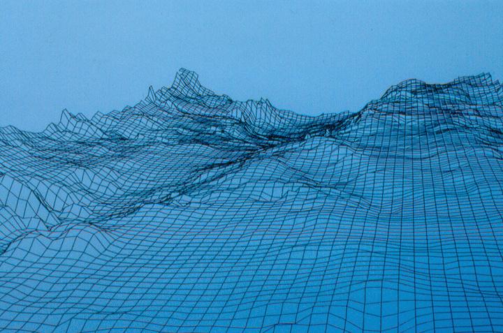Le gue du Port Guillot a Lux vu en 3D. Image laboratoire des Ponts et Chaussees de Bloise © DR L Bonnamour