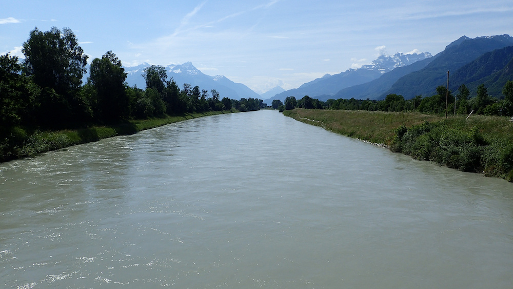 Le Rhône dans le Valais © Jean-Louis Michelot