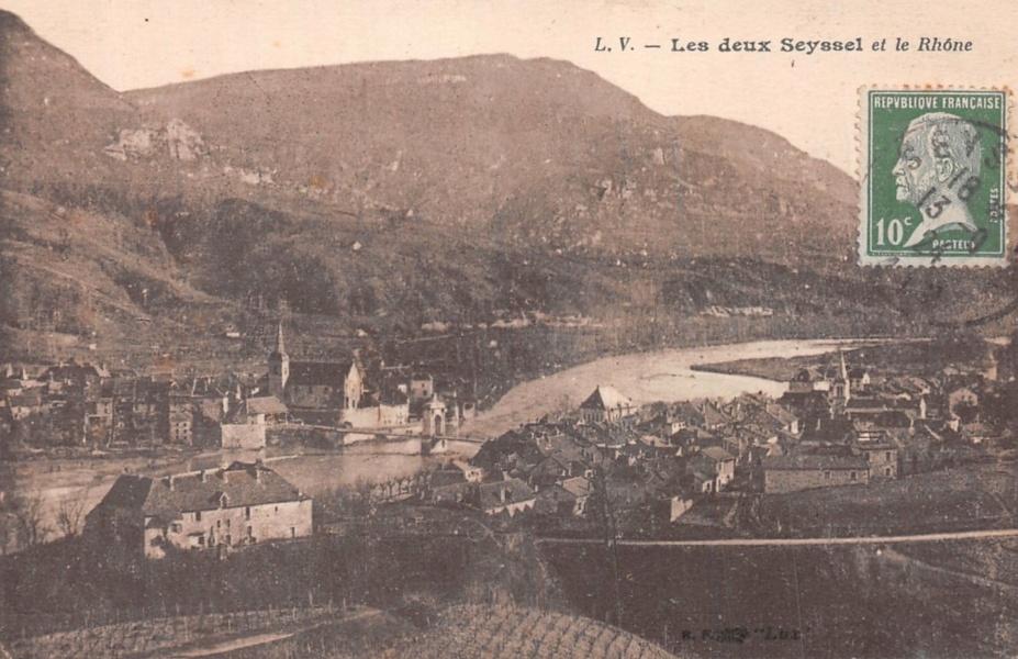 Les deux Seyssel et le Rhone @ DR Deyrieux