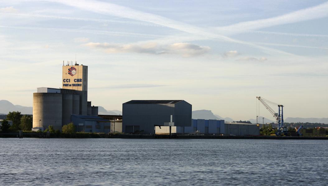 Port de commerce vue du Rhone © Chambre de Commerce et d industrie de la Drome