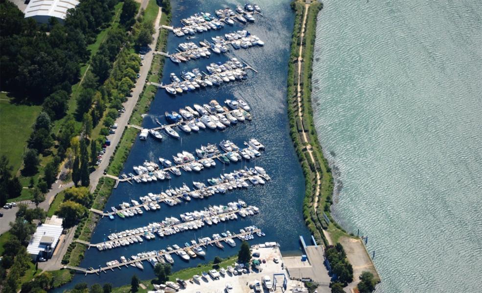 Port Eperviere vue aerienne © CCI Drome