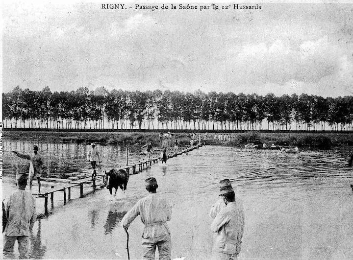 Rigny, passage de la Saone, 12è Hussards © DR L Bonnamour