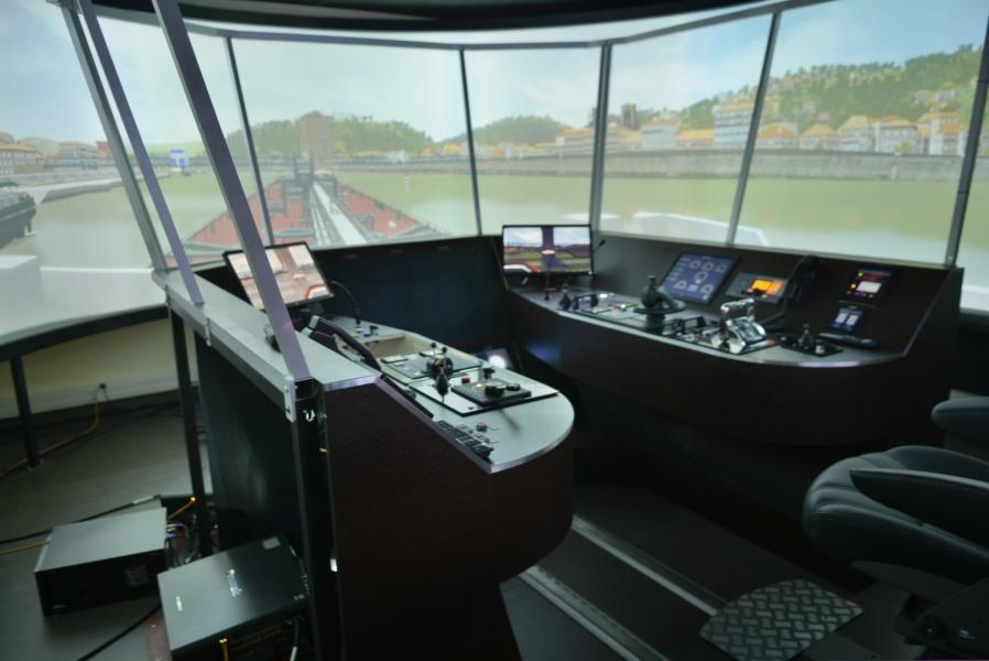 Simulateur de navigation sur le Rhône et la Saône © Gilles Durel, Promofluvia