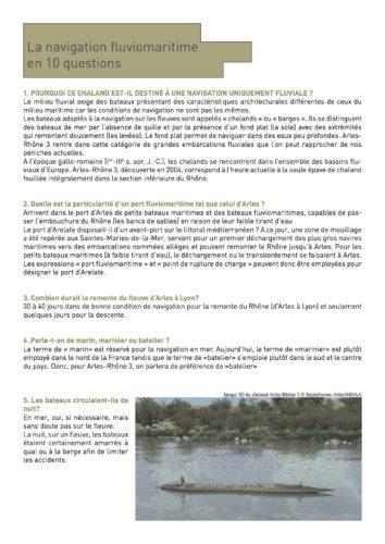 La navigation fluviomaritime en 10 questions © Musée départemental Arles antique