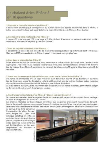 Le chaland Arles-Rhône 3 en 10 questions © Musée départemental Arles antique