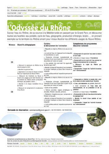 L'odyssée du Rhône 2018 2019 © Grand Parc Miribel Jonage